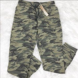 Green Brown Camo sweatpants joggers •Side pockets